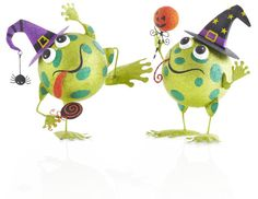 Halloween Glitter Frogs at Pier 1, where things are different and more sparkly- these are way too cute!!