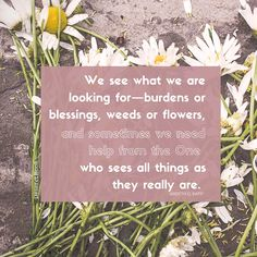 """""""We see what we are looking for..."""" ~ Ardeth G.Kapp #lds #trials #adversity #blessings #inspiration #faith #revelation"""
