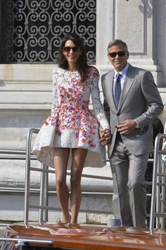 See Amal Alamuddin's Wedding Dress in First Pictures from George Clooney's Wedding | Vanity Fair