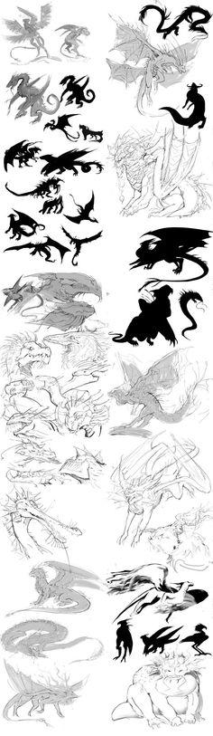 A buch of sketches , Ayda Fridnand on ArtStation at https://www.artstation.com/artwork/NPdQD