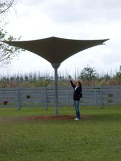 This Lotus™ pasture shelter acts like a natural tree, except without dripping branches