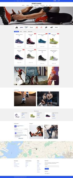 OpenCart Template , Sports Shoes