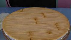 Andrea's Sweet Tips #5 Hardwood floor: Cake board treatment....using an airbrush!