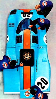 1970 Porsche 917K | Kurzheck | Short Tail | Winner of the 24 Hours of Le Mans in 1970 and 1971 | Gulf Oil Livery, with matching crew suits