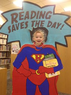 Reading Saves the Day! by Clearwater Public Library System Photos, Library Themes, Library Activities, Library Displays, Book Displays, Library Ideas, Poster Festival, Super Reader, Reading Incentives, Reading Themes