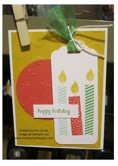 Stampin Up Build a Birthday card