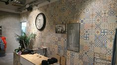 Alcapone store in Valencia fully coated with Heritage Mix #tiles. #ceramics #interiordesign #hydraulic #trendingtiles