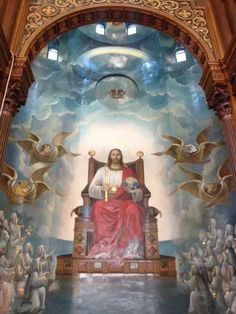 God reigns over the nations; God is seated on his holy throne.      Psalm 47:8