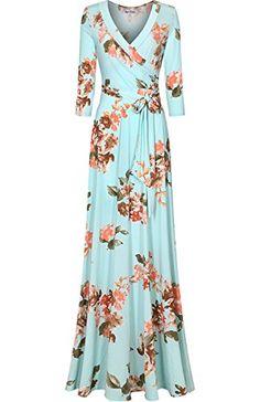 Bon Rosy Women's 3/4 Sleeve Floral Printed Bohemian Maxi ... https://www.amazon.com/dp/B06ZY7MR1L/ref=cm_sw_r_pi_dp_x_7m0FzbPY9TXGC