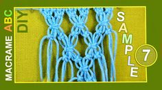 Motif with flower elements. with this motif you can make a jacket or something beautiful. In this Macrame sample are used Square knot. The square knot is the basis of many designs. It is also called a Flat Knot or Reef Knot. If you can only learn one knot, this is the one to learn.