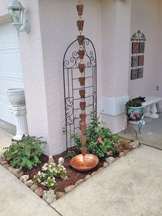 Beautiful Butterfly Theme Copper Rain Chain Display