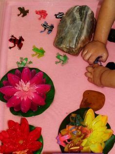 Frog Water Table Play (https://www.facebook.com/pages/Casa-Marias-Creative-Learning-Zone/265619121069)