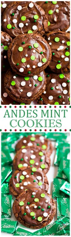 Andes Mint Cookies - these cookies are a holiday must! Soft, chewy and perfectly minty!