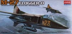 """Mikoyan MiG-27 """"Flogger D"""". Academy, 1/72, injection, No.12455. Price: 5,62 GBP."""