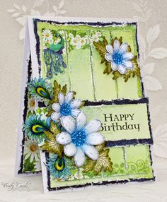 Card made using the Peacock Paisley collection papers and stamps from Heartfelt Creations. Made by Liz Walker