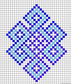 Celtic knot perler bead pattern