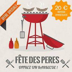 Fête des pères ; offrez un barbecue ou une plancha ! 20 € offerts en ce moment sur notre sélection www.jardin-en-terrasse.com