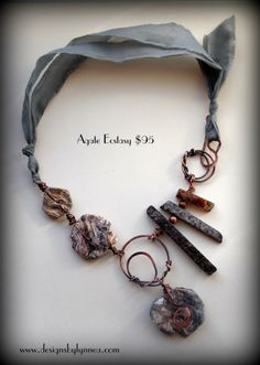 Agate Ecstasy Photo:  Beautiful Agate druzy stones and rough slab spikes with hand forged copper links and closure https://squareup.com/market/designs-by-lynnea/agate-ecstasy