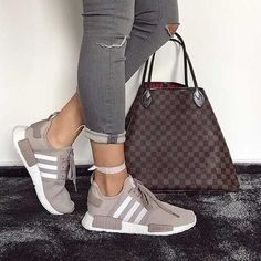 adidas-boost-with-louis-vuitton-bag- Classy and trendy sporty shoes www.justtrendygir... ,Adidas Shoes Online,#adidas #shoes