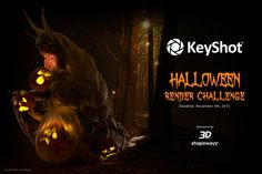 The KeyShot Halloween Rendering Challenge has be launched again due to the immense demand of its fans. 3D World has sponsored this event which gathers 3D artists from around the world for creating a shot which they consider is the scariest.