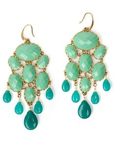 Polished Turquoise Drop Earrings by David Aubrey
