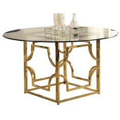 Everly Quinn Schacht Dining Table Colour Gold Size 30 H X 60 W X 60 D Dining Table Round Dining Table Dining Table Sizes