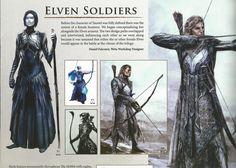 Elven Soldiers BOTFA concept art