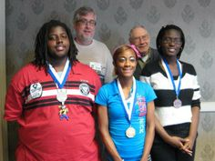 South Carolina 'CCDHH' District Communication Contest winners announced - Front row, from left are: LeAndrew Watson (second), Destiny McCarter (first), Makalya Middleton (third). Rear from left are: Pepper Graham and Troy Bridges.