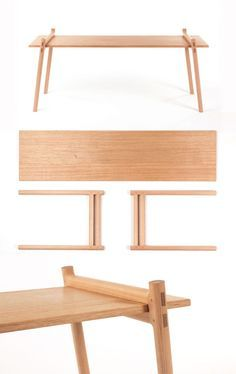 Omoto bench by Another Small Studio. Omoto bench by Another.- Omoto bench by Another Small Studio. Omoto bench by Another Small Studio. Folding Furniture, Wooden Furniture, Furniture Making, Cool Furniture, Furniture Design, Furniture Online, Nomadic Furniture, Wood Joints, Home And Deco
