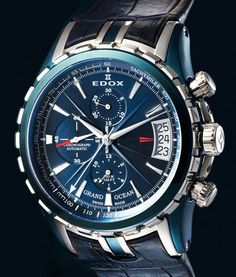 Edox | Grand Ocean Automatic Chronograph | Steel | Watch database watchtime.com  $4,400