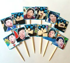 Dan TDM Cupcake Toppers! The Diamond Minecart Birthday Party Idea, Party Decorations, Minecraft Birthday Decorations