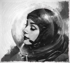 female astronaut painting - Google Search