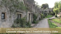 """A one hour Virtual Walk in 5 quaint Cotswold Villages in England. It will make the time spent exercising """"fly by! Virtual Run, Virtual Field Trips, Virtual Travel, Virtual Museum Tours, Cotswold Villages, Walking Tour, Places To See, Exercises, Workouts"""
