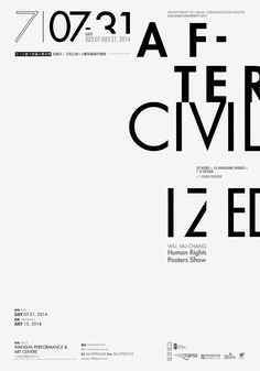 Posters Show by Wu,Mu-Chang Typo Poster, Typographic Poster, Typographic Design, Layout Design, Print Design, Logo Design, Graphic Design Posters, Graphic Design Typography, Editorial Layout