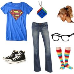 A fun and playful outfit to suit a fun geek loving girl.