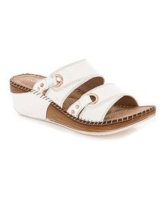 Another great find on #zulily! White Layered Loop Sandal #zulilyfinds