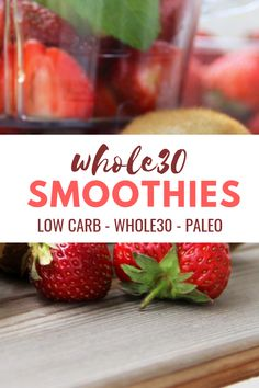 Smoothies: 8 Compliant Smoothie Recipes - Smoothie Recipes: Delicious sips for your program! Smoothies: 8 Compliant Smoothie Recipes - Smoothie Recipes: Delicious sips for your program! Whole 30 Diet, Paleo Whole 30, Whole 30 Recipes, Recetas Whole30, Paleo Menu, Paleo Recipes, Gourmet Recipes, Paleo Diet, Recipes