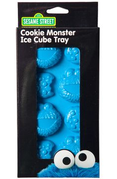 Cookie Monster Ice Cube Tray: 80s TV Sesame Street Ice Cube Trays