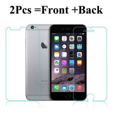 >> Click to Buy << 2Pcs Front + Back Tempered Glass For iPhone 5 5S SE 6 6S 4 4S Rear Screen Protector Anti Shatter Explosion Proof Film #Affiliate
