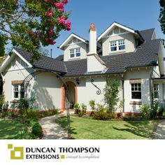Growing families are often looking for more space while not compromising on yard size, so why not increase the value of your property while you are at it? Here's another Duncan Thompson double storey extension!