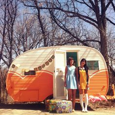 Sefanie Hiebert and Erin Thiessen of the blog Oh So Lovely Vintage own this mobile vintage shop. How cool.