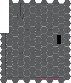 Tutorial for how to design layout for and lay large hexagon floor tiles. Week 3 of the One Room Challenge bathroom renovation! Large Hexagon Floor Tile, Hexagon Tiles, Tile Floor, Hex Tile, Tile Saw, Tile Leveling System, Hallway Flooring, Floor Layout, Bathroom Layout