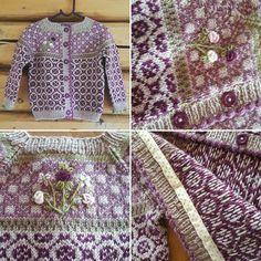 A little handknitted jacket inspired by the norwegian designer Kristin Wiola Ødegård