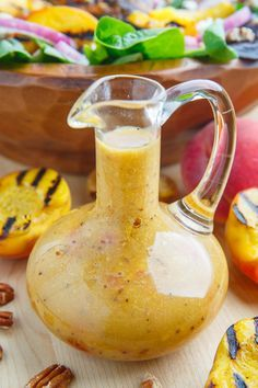 Peach Honey Dijon Balsamic Vinaigrette