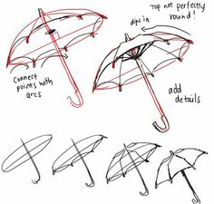 Art Tutorials Anonymous said: I wonder if you can help me drawing an umbrella? I'm sorry if it's too much >_ Answer: us e a proper circle tool or your umbrella will be lopsided like mine LOL here's a ref of. Drawing Skills, Drawing Lessons, Drawing Techniques, Drawing Tips, Drawing Reference, Art Lessons, Beginner Drawing, Anatomy Reference, Sketch Drawing