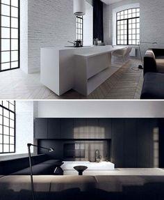 Great interior, beautiful floorplan. more on http://tamizo.pl/EN/projects/interiors/96/loft_interior_design_lodz.html