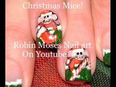 Christmas Nails | Cute Xmas Mouse Nail Art Design Tutorial
