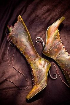 Fairy Forest Boots #fairy #fairie #sprite #ents #forest