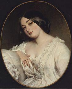 Portrait of an unknown lady Franz Xaver Winterhalter