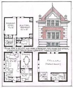 House Techniques And Strategies For Grilling Recipes Vintage House Plans, Modern House Plans, Small House Plans, Sims House Plans, House Floor Plans, Sims House Design, Tower House, Tiny House Cabin, House Layouts